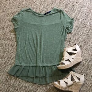 Adorable Size Large Green Top